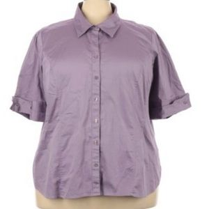 Lane Bryant short sleeve camp shirt blouse 26/28